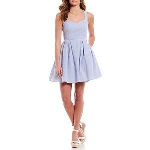 Lauren James Blue Seersucker Livingston Dress